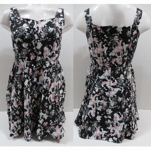 Linjou dress Large floral sleeveless lolita empire